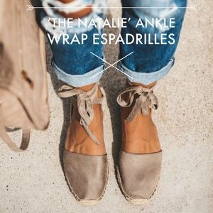 'The Natalie' Ankle Wrap Espadrilles In Clay